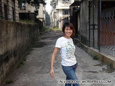 Rachel at a random Indian street