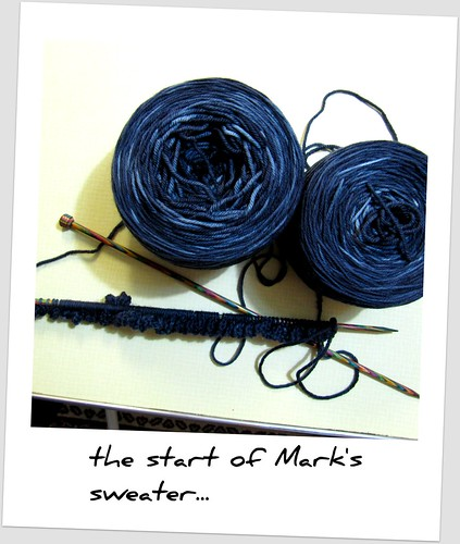 The yarn for Mark's sweater