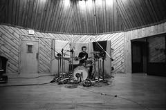 Rob (Maclaine Diemer) Tags: music film 35mm drums ilfordhp5 135 taxpayer ludwig recording olympusom4 zuiko24mmf28 sonalystsstudio