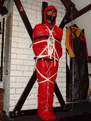 bdbagcross (lthr_stefke) Tags: gay male leather bondage rope gag straps muzzle roped bagged strapped