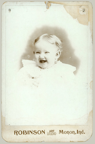 Baby on Cabinet Card