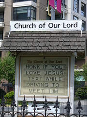 172/365 honk if you love jesus (tek_chick) Tags: canada church sign driving bc text jesus victoria churchofourlord
