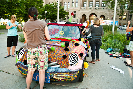 yarn bombing utah arts fest