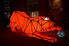 Digital Origami Tigers, Toronto Light Fest, Distillery District, Toronto, ON (Snuffy) Tags: digitalorigamitigers torontolightfest distillerydistrict toronto ontario canada lava laboratoryforvisionaryarchitecture level1photographersforrecreation
