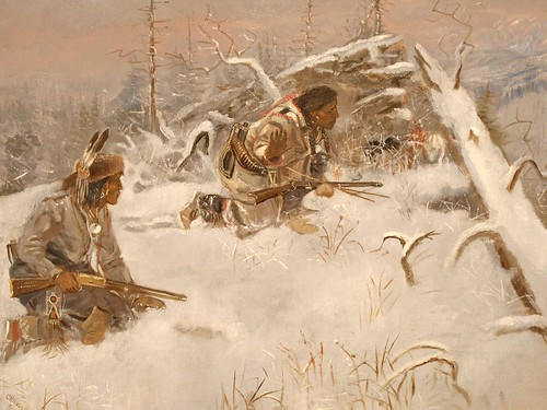 Charles M. Russell (1864–1926), Crow Indians Hunting Elk, ca.,1890