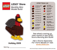 LEGO Store MMMB - November 2009 (Turkey) (TooMuchDew) Tags: thanksgiving november holiday turkey lego legostore meleagrisgallopavo legoimaginationcenter legoinstructions mmmb toomuchdew monthlyminimodelbuild licmoa minimodellbauevent