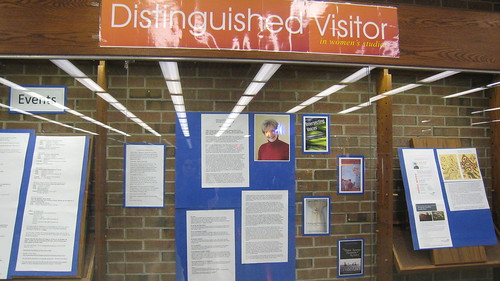 Distinguished Visitor in Women's Studies Display