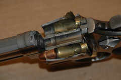 Boom! (twm1340) Tags: destruction smith revolver ammo 44 stainless magnum malfunction 629 wesson model629 handloading