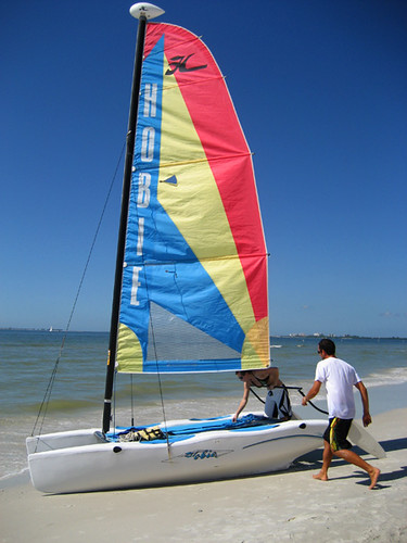 Rigging the Hobie Cat