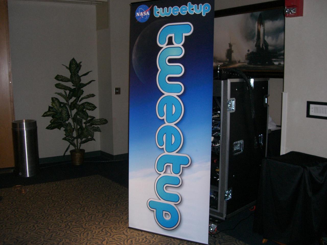 NASA Tweetup banner