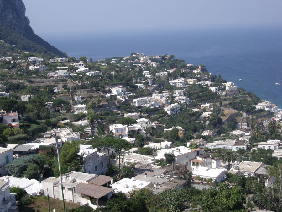 Looking down from Capri
