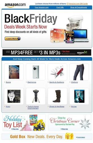 Amazon.com Black Friday e-mail