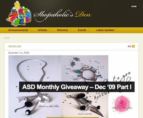 ASD Dec Giveaway