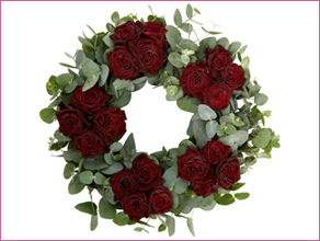 Simply Roses Christmas wreath a