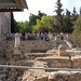 Visitors crowd viewing platform at Pools of Bethesda (Seetheholyland.net)