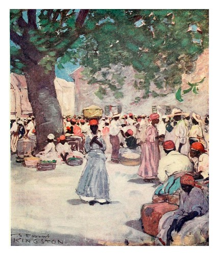004-El mercado del tabaco en Kingston Jamaica-The West Indies 1905- Ilustrations Archibald Stevenson Forrest