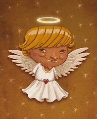 x-mas (akrapf) Tags: christmas xmas illustration angel gold akrapf