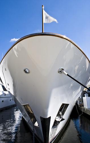 white marina boat dock yacht flag bow 365
