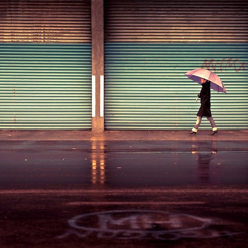 Urban / Lightroom preset rose vogue / city / umbrella / reflection / walking / rain