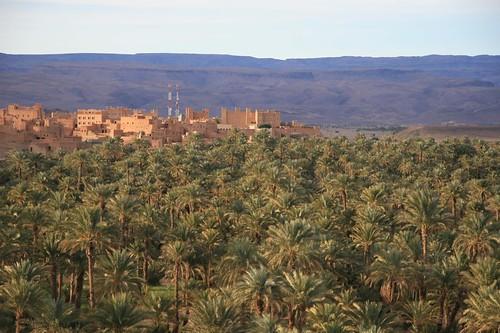 Foto da aldeia berbére de Nkob em Marrocos