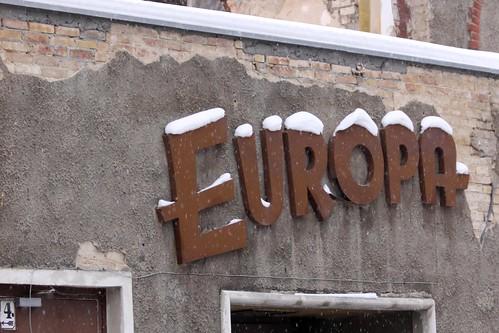 In Europa schneit es
