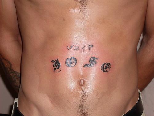 Tattoo De Letras. Nombre en letras góticas