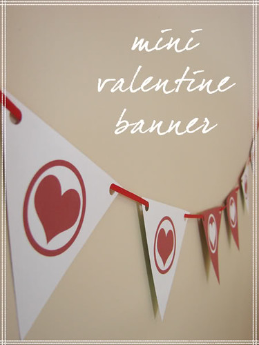 picture about Valentine Banner Printable known as Freebie Warn : Printable Mini Valentine Banner! - sort in excess of