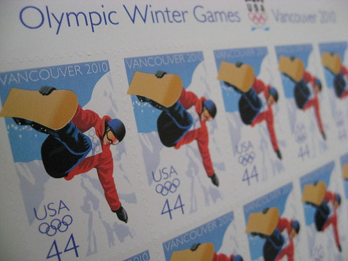 2010 Olympics Snowboarder Stamps