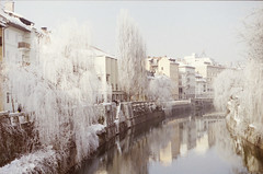 riverside (nocas) Tags: white snow slovenia ljubljana softrime