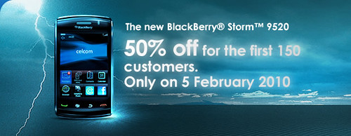 50% off the new BlackBerry Storm 2