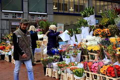 Flower stalls (Esther Moliné) Tags: street ireland people dublin flower colour stall graftonstreet flowerstall streetshot flowerseller