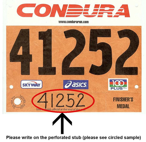 sample race bib