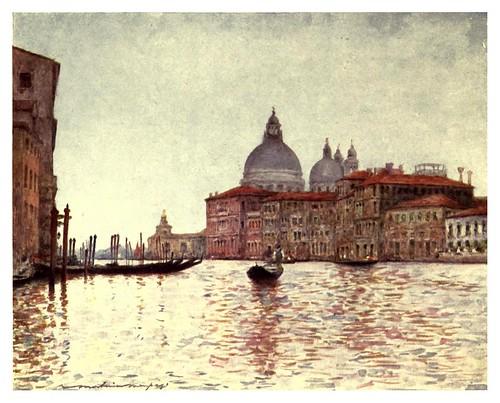 008-Gran Canal con las torres de Dogana al fondo-Venice – 1904-Dorothy Menpes
