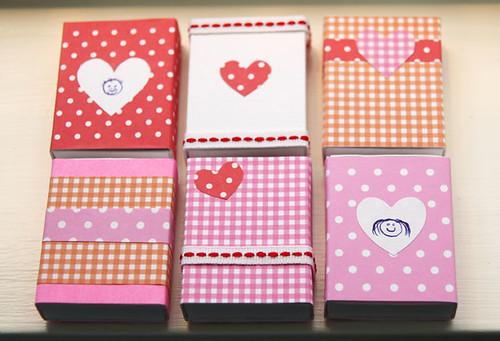 Valentine's matchboxes