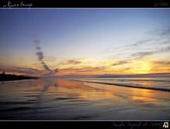 Smoke Signals at Sunset (tomraven) Tags: ocean sunset sea sky sun beach water clouds reflections sand colours hdr smokesignals feb18 artofimages tomraven bestcapturesaoi aravenimage q12010