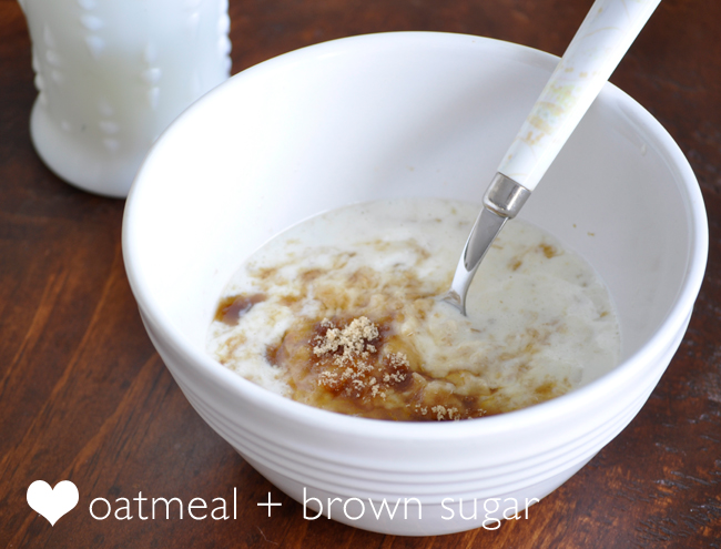 oatmeal for breakfast