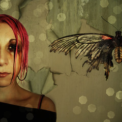 Fragile (Danielle_T) Tags: portrait art emotion decay ill tired conceptual fragile upset fallingapart danielletunstall