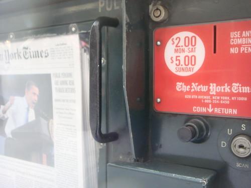 ニューヨークタイムズ 自販機