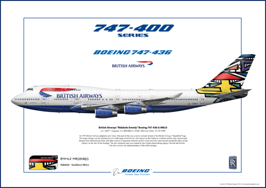 British Airways Ndebele Emmly Boeing 747-436 G-BNLO