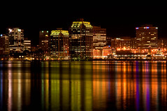 Halifax by Night (deanbouchard) Tags: reflection night lights harbor harbour ns halifax d90 mywinners colorphotoaward nikon1685mmvr tgamcitystreetscapes