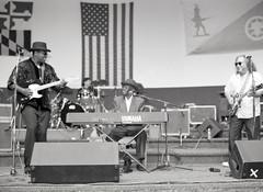 img595 (Grudnick) Tags: bw slr film mediumformat concert kodak live piano blues maryland pianist bandshell chicagoblues hagerstown mamiya645 freeconcert boogiewoogie tmx100 deltablues pinetopperkins 120rollfilm wmbf westernmarylandbluesfestival bobmargolin mudmorganfield mudjr billmorganfield