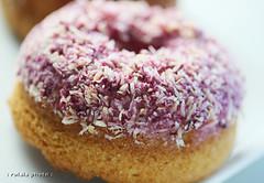 pink lemon coconut (rolala photo) Tags: nyc pink stilllife food newyork dessert lemon sweet coconut lowereastside bakery donut baked babycakes glutenfree