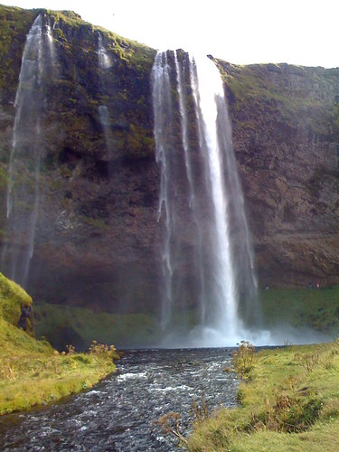 an icelandic waterfall from not far