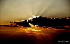 Dramatic ... (Flutterbye_856) Tags: light sunset nature clouds illumination rays