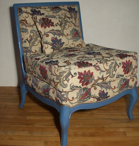 Vintage Turquoise Slipper Chair