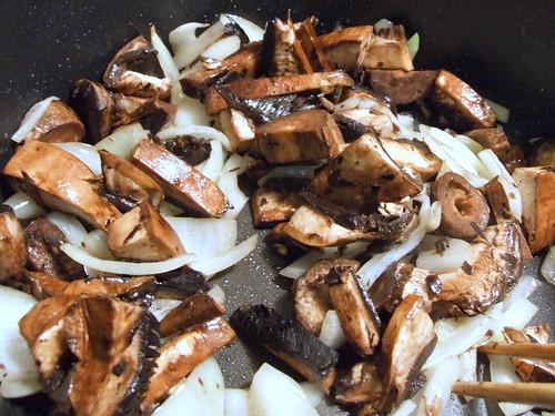 saute onion and mushroom
