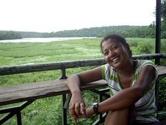 View on lake Ravelobe from watchtower, Ankarafantsika National Park, Madagascar