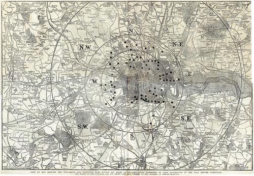 Map of London's Toll Gates
