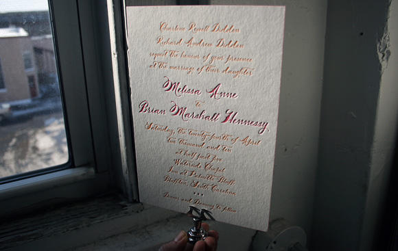 Haddington - Calligraphy Letterpress Wedding Invitation