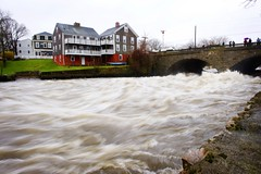 Local Flood (Heidi Hope) Tags: ri bridge storm rain river flooding closed flood historic rhodeisland warwick overflow villiage pawtuxet cranston heidihopephotography recordflood heidihope httpwwwheidihopecom httpwwwheidihopeblogspotcom